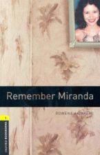 REMEMBER MIRANDA WITH CD (OBW 1)