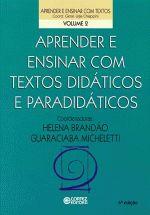 Aprender e Ensinar Com Textos Didaticos e Paradidaticos